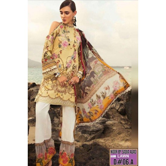 NOOR N-01B EMBROIDERED THREE PIECE LAWN COLLECTION