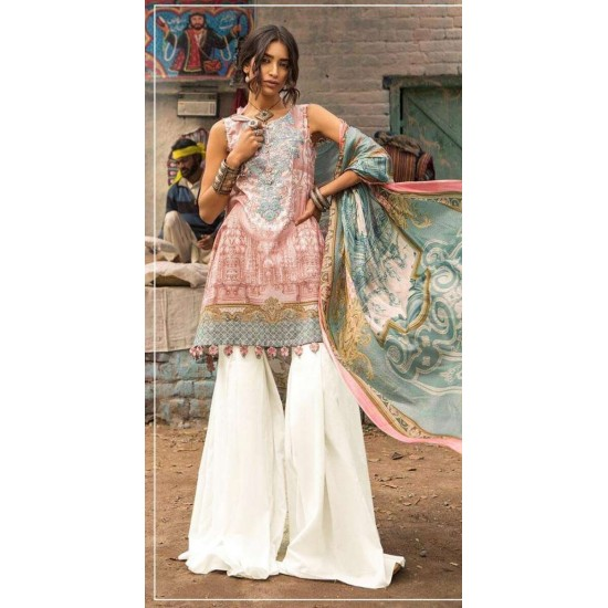 Eid Lawn Summer Collection 2019 Multi 3PC -Unstitched