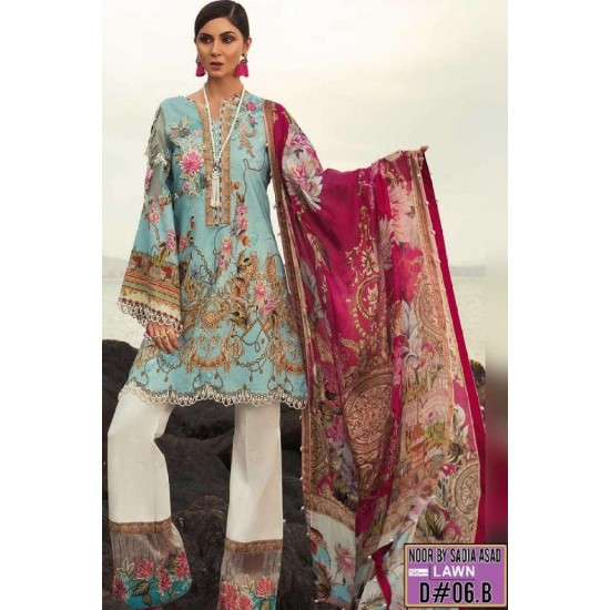 NOOR N-01A EMBROIDERED THREE PIECE LAWN COLLECTION